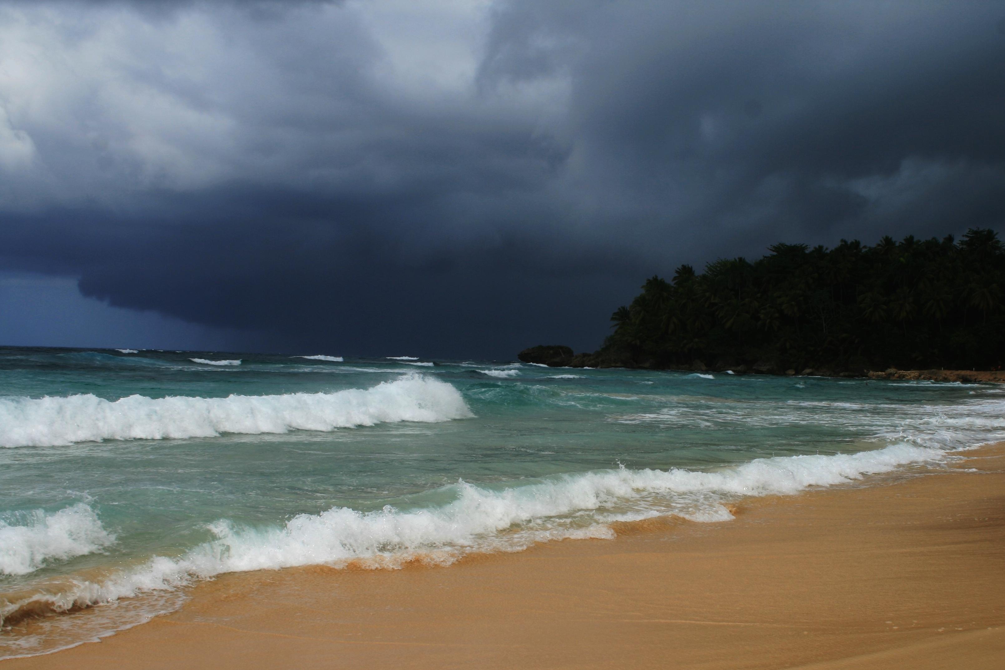 boven een orkaan