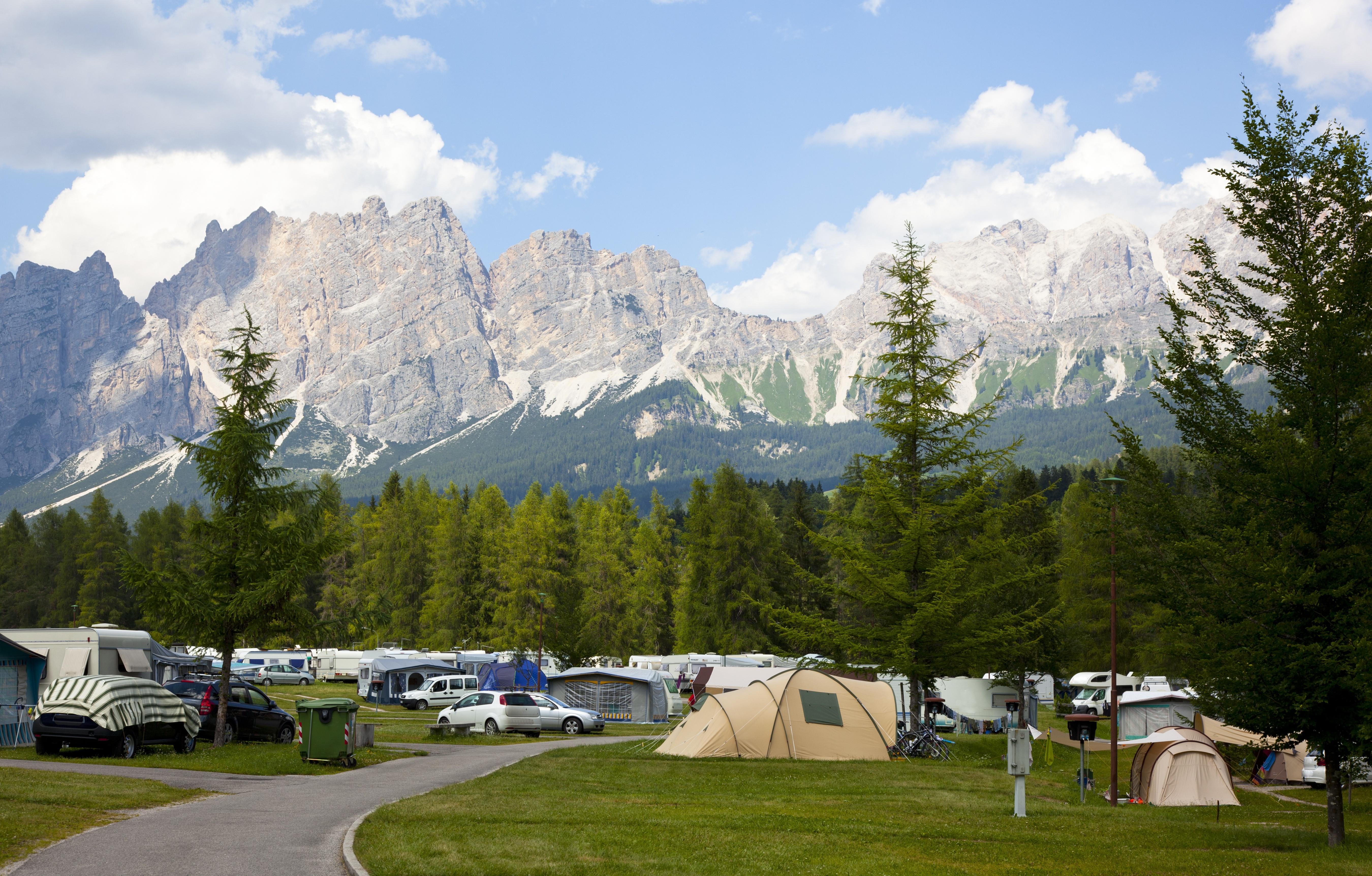 italië dolomieten camping