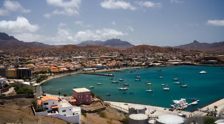De havenstad Mindelo