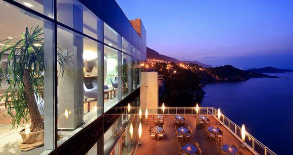 Uitzicht vanuit het Bellevue Hotel in Dubrovnik